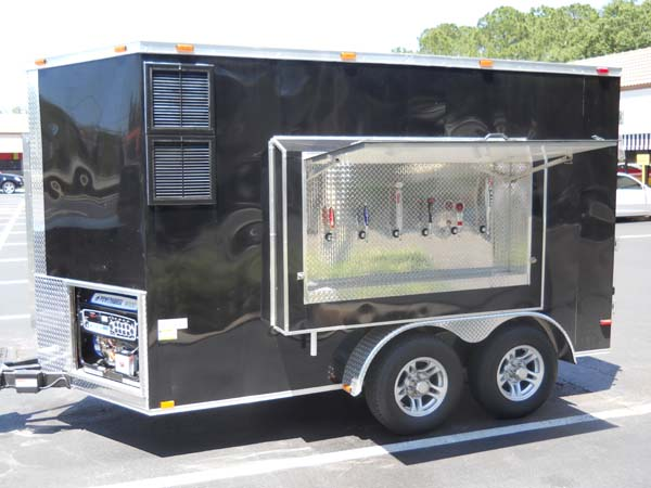 BeerTrailer on electric car portable generator